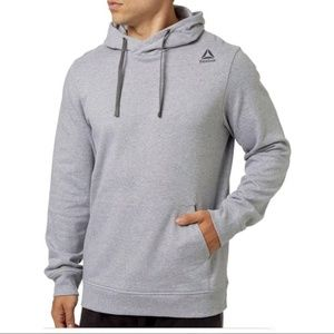 Grey Reebok Heather Cotton Fleece Hoodie